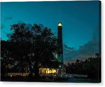 Pensacola Lighthouse Canvas Print by Dorothy Cunningham