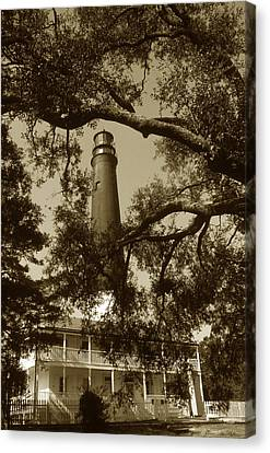 Pensacola Lighthouse Canvas Print by Skip Willits