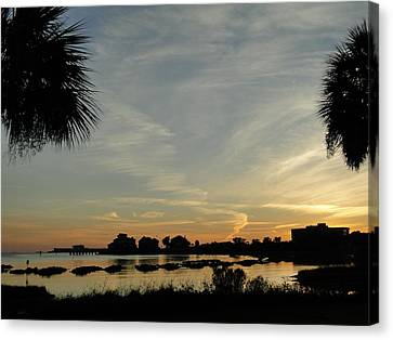 Pensacola Sunset Canvas Print by Cindy Croal
