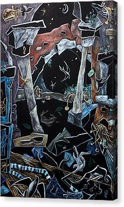 Pensieri D'acqua - Disegno Fantasia E Illustrazione Canvas Print by Arte Venezia