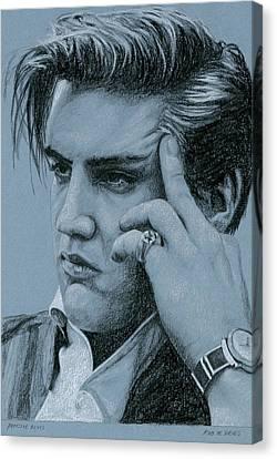 Pensive Elvis Canvas Print by Rob De Vries