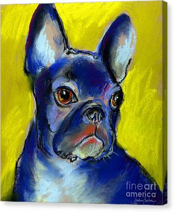 Pensive French Bulldog Portrait Canvas Print by Svetlana Novikova