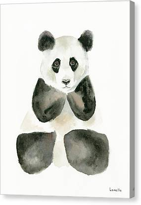 Pensive Panda Canvas Print by Kimberly Lavelle