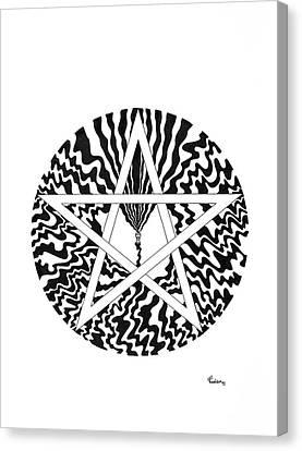 Pentagram Canvas Print