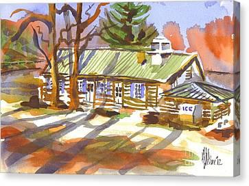 Penuel Lodge In Winter Sunlight Canvas Print by Kip DeVore