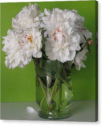 Canvas Print featuring the photograph Peonies 2 by Margaret Newcomb