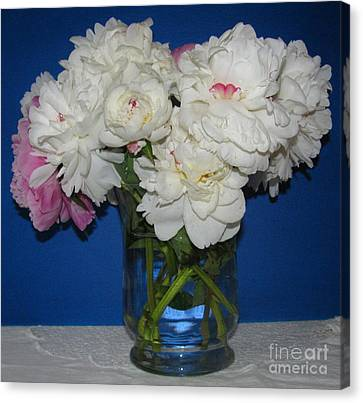 Canvas Print featuring the photograph Peonies Bouquet 5 by Margaret Newcomb