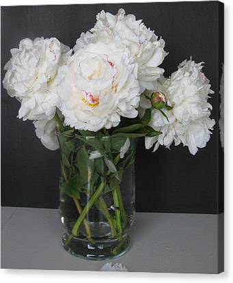 Canvas Print featuring the photograph Peonies Bouquet 6 by Margaret Newcomb