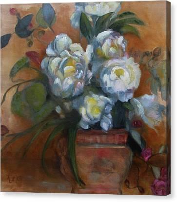Peonies Canvas Print by Susan Hanlon