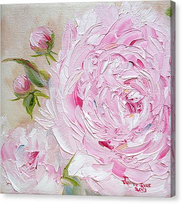 Canvas Print featuring the painting Peony by Judith Rhue