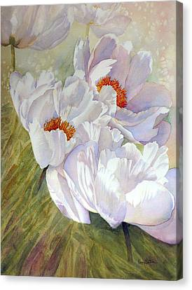 Peony Party  Canvas Print by Karen Mattson