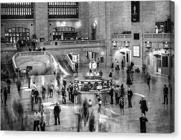 People At The Grand Central Station Canvas Print