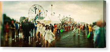People Celebrating In Coney Island Canvas Print