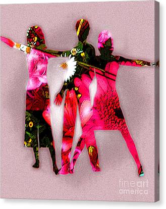 People Fashion Canvas Print