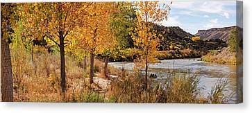 Verde River Canvas Print - People Fishing In The Rio Grande River by Panoramic Images
