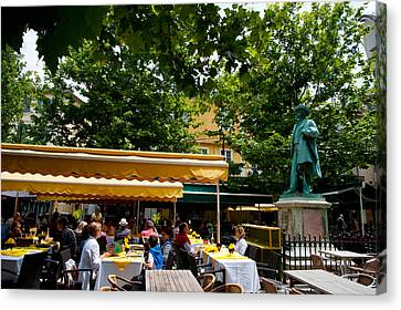 Place Du Forum Canvas Print - People In A Restaurant, Place Du Forum by Panoramic Images