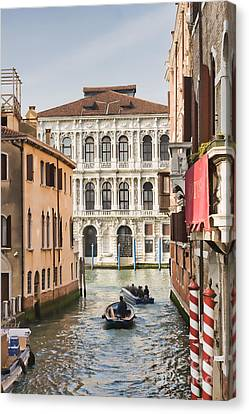 People Leaving For Work In Venice Canvas Print by Gabriela Insuratelu