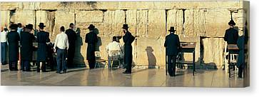 People Praying At Wailing Wall Canvas Print