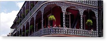 People Sitting In A Balcony, French Canvas Print by Panoramic Images