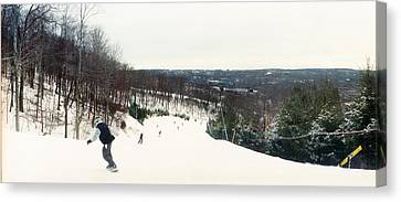 Snowboarding Canvas Print - People Skiing And Snowboarding by Panoramic Images