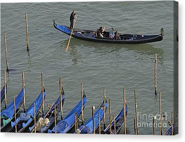 Canvas Print - People Touring Venice In Gondola by Sami Sarkis