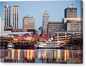 Peoria Illinois Skyline Canvas Print by Paul Velgos