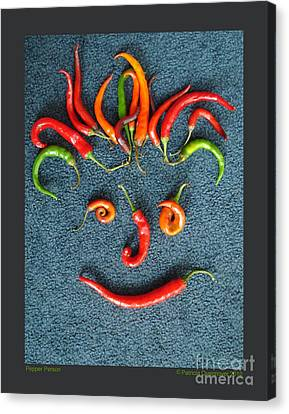 Pepper Person Canvas Print by Patricia Overmoyer