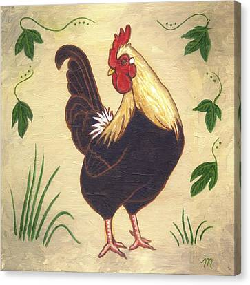 Pepper The Rooster Canvas Print by Linda Mears