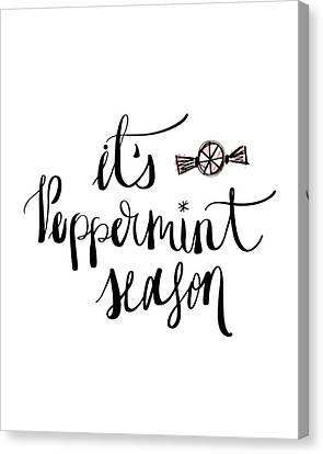 Peppermint Season Canvas Print