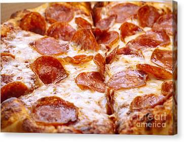Pepperoni Pizza 1 - Pizzeria - Pizza Shoppe Canvas Print