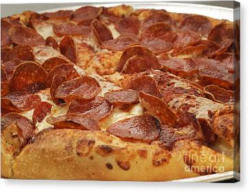Pepperoni Pizza 24 Canvas Print by Andee Design