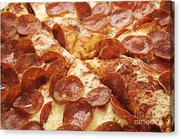 Pepperoni Pizza 25 Canvas Print by Andee Design