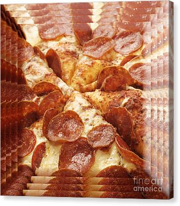 Pepperoni Pizza 25 Pyramid Canvas Print