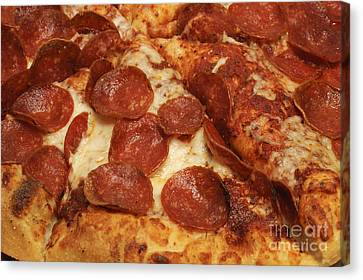 Pepperoni Pizza 33 Canvas Print by Andee Design