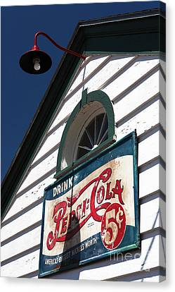 Pepsi Cola 5 Cents Canvas Print by John Rizzuto