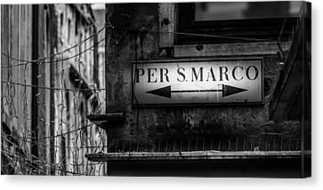 Per S. Marco Venice Canvas Print by Colin Utz