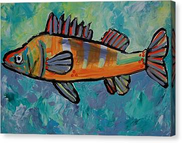 Canvas Print featuring the painting Perch by Krista Ouellette