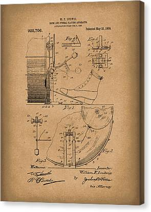 Percussion System 1909 Patent Art Brown Canvas Print