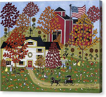 Percy's Pumpkin Patch Canvas Print by Medana Gabbard
