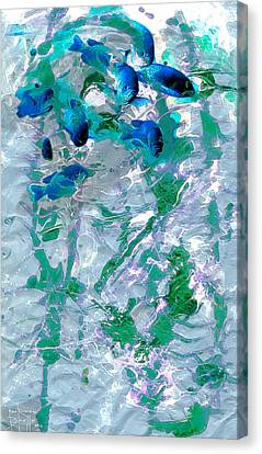Canvas Print featuring the painting Peregrinate by Ron Richard Baviello