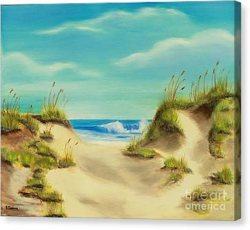 Perfect Beach Day Canvas Print by Bev Conover