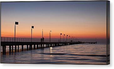 Canvas Print featuring the photograph Perfect Sunset by Kim Andelkovic