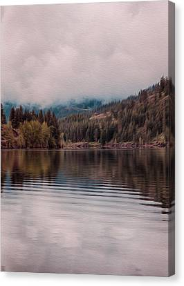Perfectly Cloudy Lake Canvas Print by Omaste Witkowski