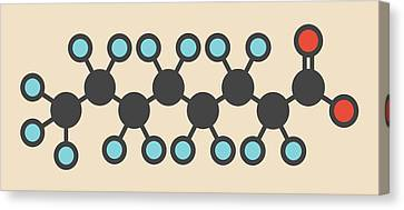 Emulsion Canvas Print - Perfluorooctanoic Acid Molecule by Molekuul