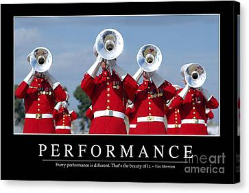 Performance Inspirational Quote Canvas Print by Stocktrek Images