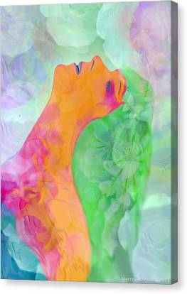 Canvas Print featuring the digital art Perfume Of Love by Martina  Rathgens