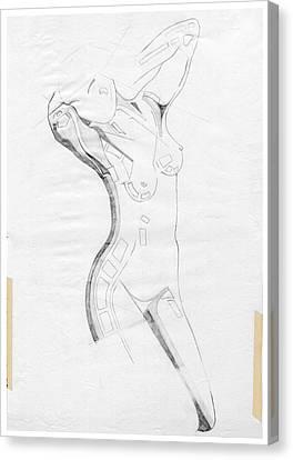 Perfume Of Venus - Homage Rodin Canvas Print