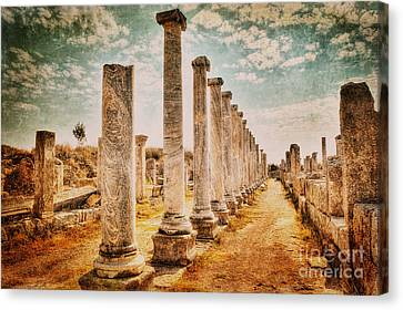 Ancient Greek Ruins Canvas Print - Perge's Road by Emily Kay