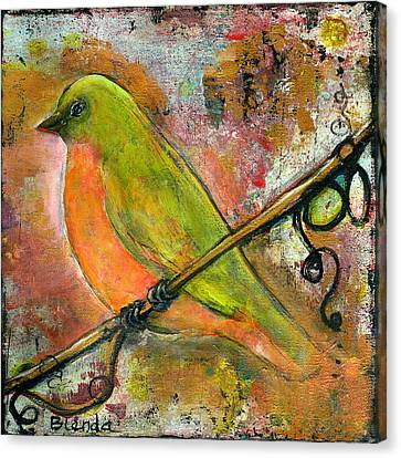Blendastudio Canvas Print - Peridot Bird by Blenda Studio