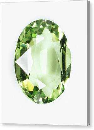 Peridot Gemstone Canvas Print